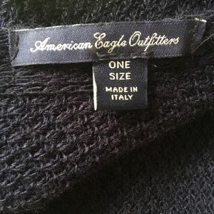 American Eagle Navy Open-Front Cardigan